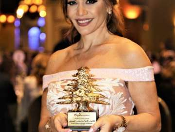 Karen Boustany Best media personality awarded by Byblorama