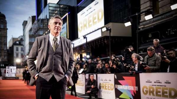 الممثل ستيف كوغان في العرض الأول لفيلم غرييد في مهرجان لندن السينمائي