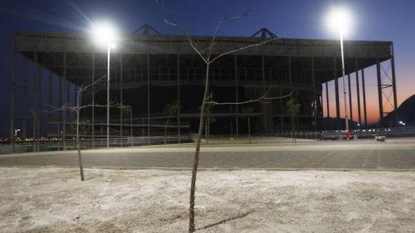 يقع ملعب أكواتك المغلق في أولمبيك بارك في حي بارادا تيوكا في ريو دي جانيرو، البرازيل. 23 يوليو/تموز 2017