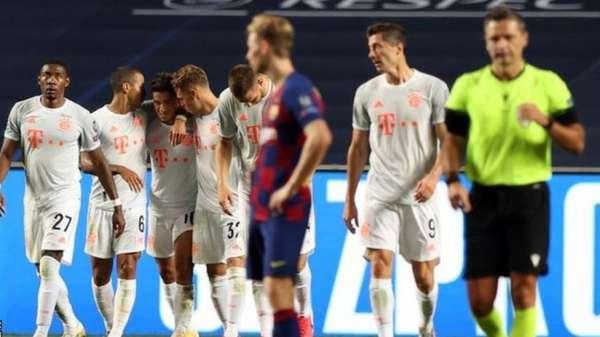 بايرن ميونيخ اكتفى بثلاثة أهداف فقط في مرمى برشلونة وكان يمكنه تكرار النتيجة التاريخة بثمانية أهداف